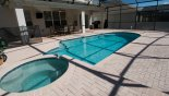 Pool & Spa from Brentwood 4 Villa for rent in Orlando