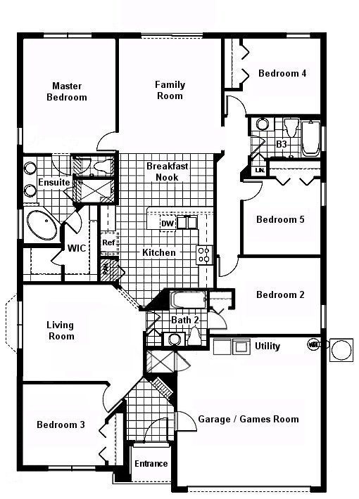 Cape San Blas 1 Floorplan