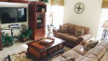 Family room with large flat screen TV from St Vincent Sound 4 Villa for rent in Orlando