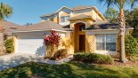 Spacious rental Emerald Island Resort Villa in Orlando complete with stunning View of villa from street