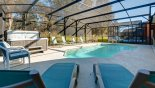 Villa rentals in Orlando, check out the Pool deck with 6 sun loungers