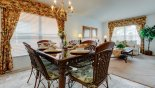 Orlando Villa for rent direct from owner, check out the Dining area adjacent to living room seating 6 persons