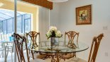 Villa rentals in Orlando, check out the Breakfast nook seating 4 with views onto pool deck