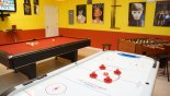 Villa rentals in Orlando, check out the Fully air-con games-room