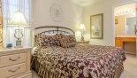 Villa rentals in Orlando, check out the Master bedroom 2 viewed towards ensuite bathroom