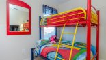 Disney themed bedroom 5 with bunk beds with this Orlando Villa for rent direct from owner
