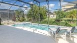 Spacious rental Emerald Island Resort Villa in Orlando complete with stunning Large pool & spawith 4 sun loungers