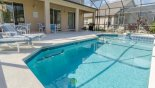 Villa rentals in Orlando, check out the Pool viewed towards covered lanai