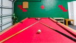 Games room with pool table, air hockey & darts from Emerald Island Resort rental Villa direct from owner