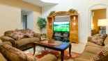Spacious rental Emerald Island Resort Villa in Orlando complete with stunning Rear lounge