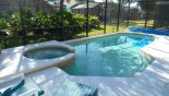 South-facing pool and spa from Emerald Island Resort rental Villa direct from owner