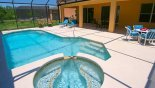 Large Pool and Spa from Magna Bay 1 Villa for rent in Orlando