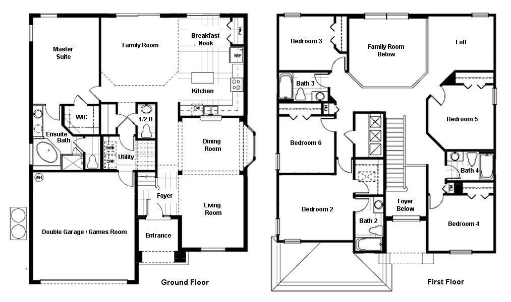 Queen Palm 4 Floorplan