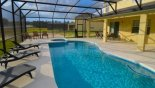 Spacious rental Watersong Resort Villa in Orlando complete with stunning View of pool & covered lanai