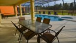 Villa rentals in Orlando, check out the View in covered lanai with table & 6 chairs