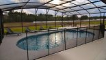 Pool showing pool safety fence partially erected - www.iwantavilla.com is your first choice of Villa rentals in Orlando direct with owner