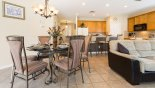 Villa rentals in Orlando, check out the Dining area seating 6