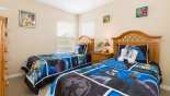 Bedroom 2 with Star Wars themed twin beds from Watersong Resort rental Villa direct from owner
