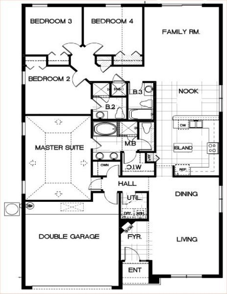 Beach Palm 1 Floorplan