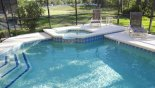 View of pool & spa from Beach Palm 1 Villa for rent in Orlando